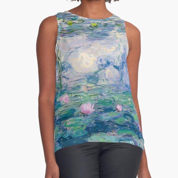Seerosen Claude Monet Fine Art Ärmelloses Top