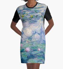 Water Lilies Claude Monet Fine Art Graphic T-Shirt Dress