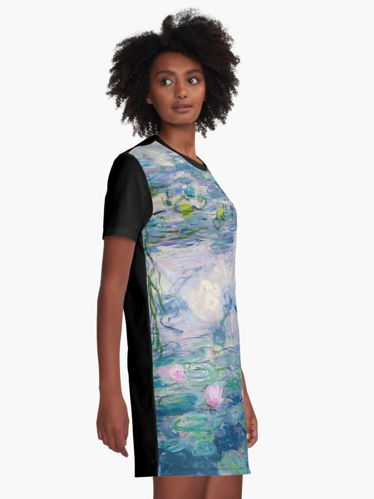 Alternate view of Water Lilies Claude Monet Fine Art Graphic T-Shirt Dress