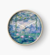 Water Lilies Claude Monet Fine Art Clock