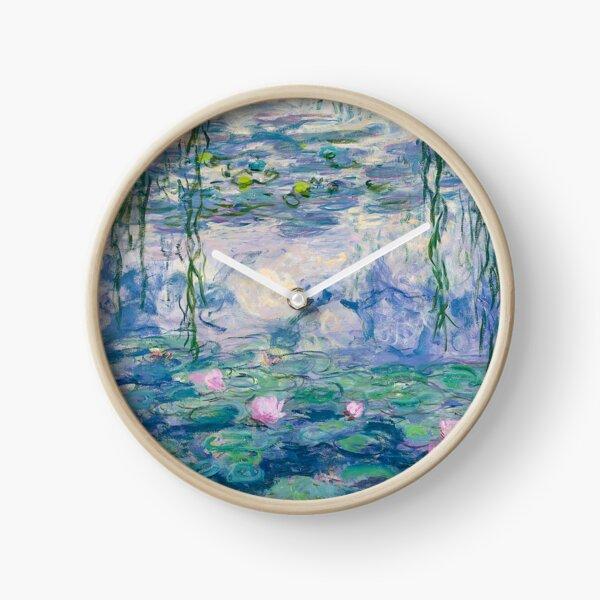 Water Lilies Claude Monet Fine Art Clock