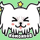 KAWAII Komondor Dog Face by TechraNova