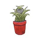 Potted Plant Spy - colorized! by Anne Pennypacker