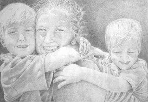 Beth and Kids by Christopher Clark