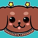 KAWAII Chocolate Labrador Dog Face by TechraNova