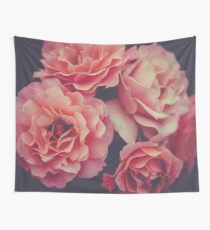 Roses in the night garden  Wall Tapestry
