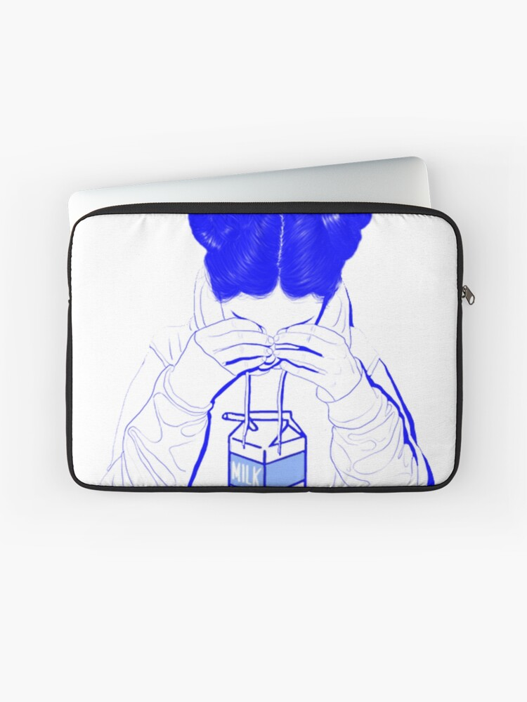 Japanese Milk Vaporwave Aesthetic Sad Girl Crying Over Milk Laptop Sleeve
