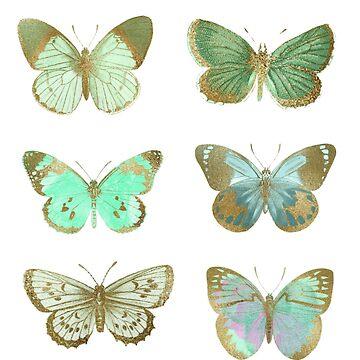 Green Butterfly, Pastel Green Butterflies by EarthlyIndigo