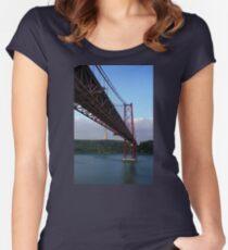25 De Abril Bridge Women's Fitted Scoop T-Shirt