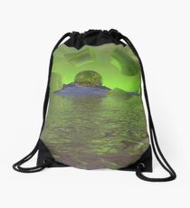 Broken Planet Drawstring Bag