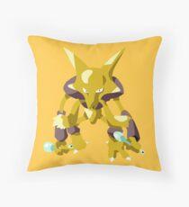 Alakazam Pokemon Simple No Borders Throw Pillow