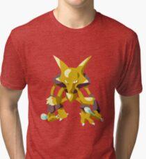 Alakazam Pokemon Simple No Borders Tri-blend T-Shirt