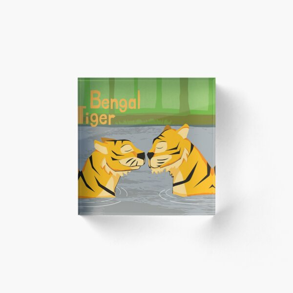 Bengal Tiger art Acrylic Block
