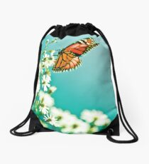 Butterfly and flowers - Nature Drawstring Bag