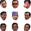 Michael Scott Faces Set by saracreates