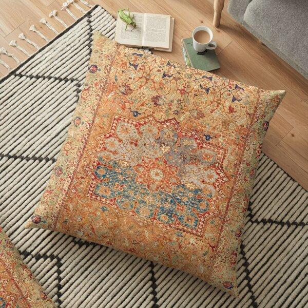 16th Century Persian Carpet Print Floor Pillow