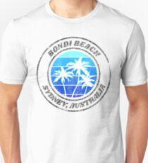 Bondi Beach Sydney Australien Retro Distressed Slim Fit T-Shirt