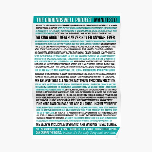 The GroundSwell Project Manifesto Poster
