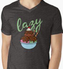 The best Sunday is a Lazy Sundae Men's V-Neck T-Shirt
