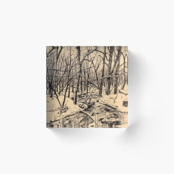 Oak Creek Parkway Acrylic Block