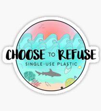 Wählen Sie Einweg-Kunststoff ablehnen Sticker