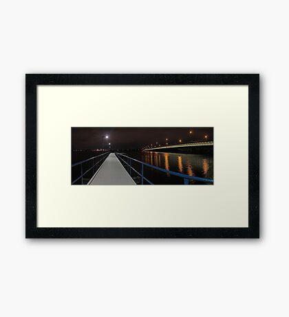 New Mount Henry Bridge Jetty - Western Australia  Framed Print