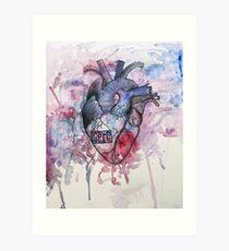 Real Heart Sketch Wall Art   Redbubble