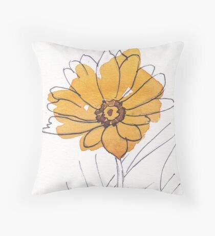 Cheerful Gerbera daisy (Gerbera jamesonii) Throw Pillow