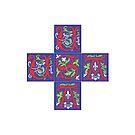 USA Emblem Cross by Faith Dominoe
