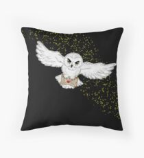 Flying Owl Pillow Throw Pillow