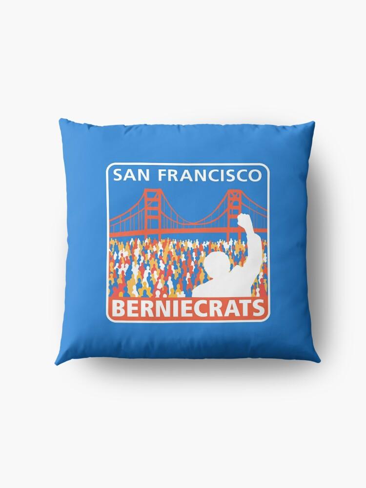 Alternate view of SF Berniecrats Floor Pillow