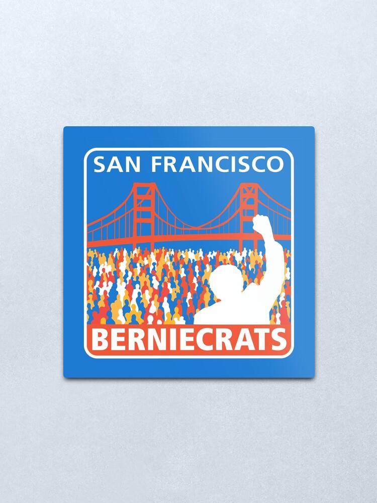 Alternate view of SF Berniecrats Metal Print