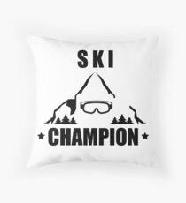 Ski Champion Cross Country Alpine skiing Throw Pillow