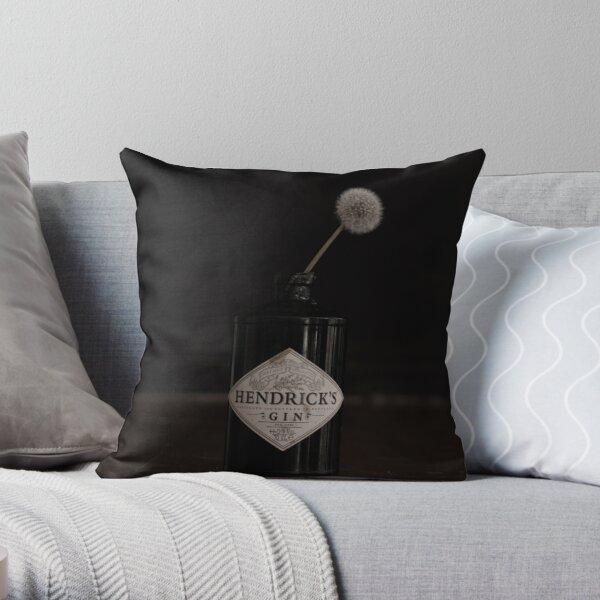 Hendricks Gin Bottle with Dandelion Throw Pillow