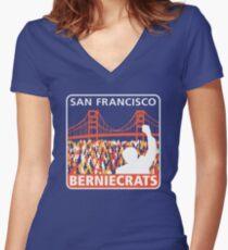 SF Berniecrats Women's Fitted V-Neck T-Shirt