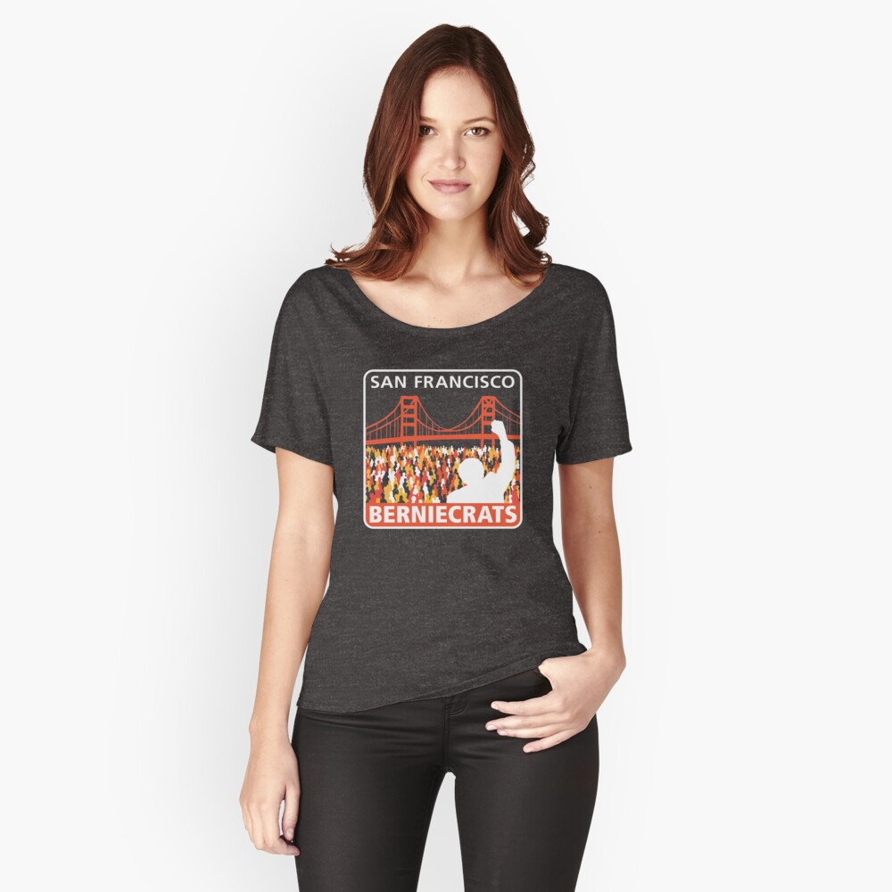 SF Berniecrats Women's Relaxed Fit T-Shirt Front