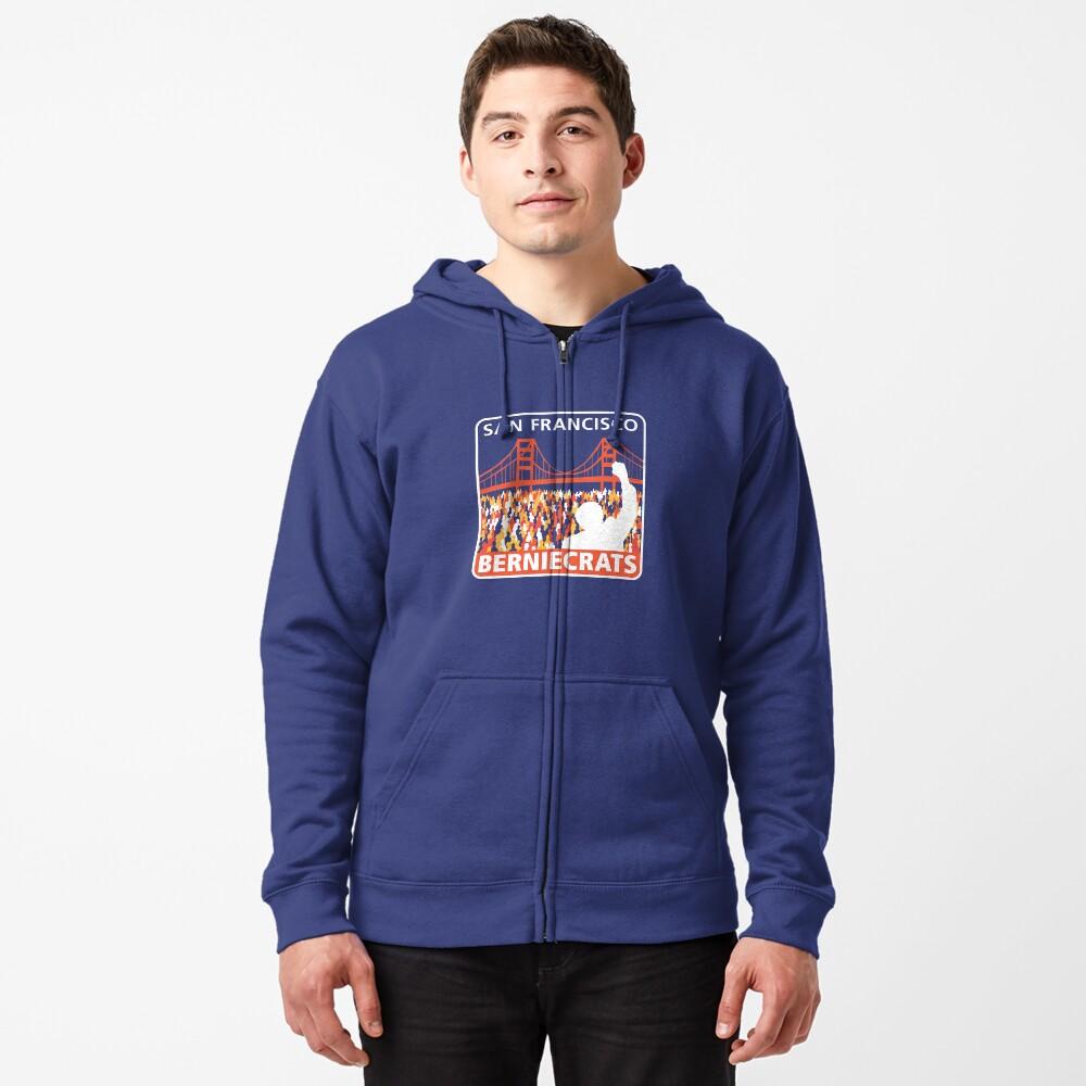 SF Berniecrats Zipped Hoodie
