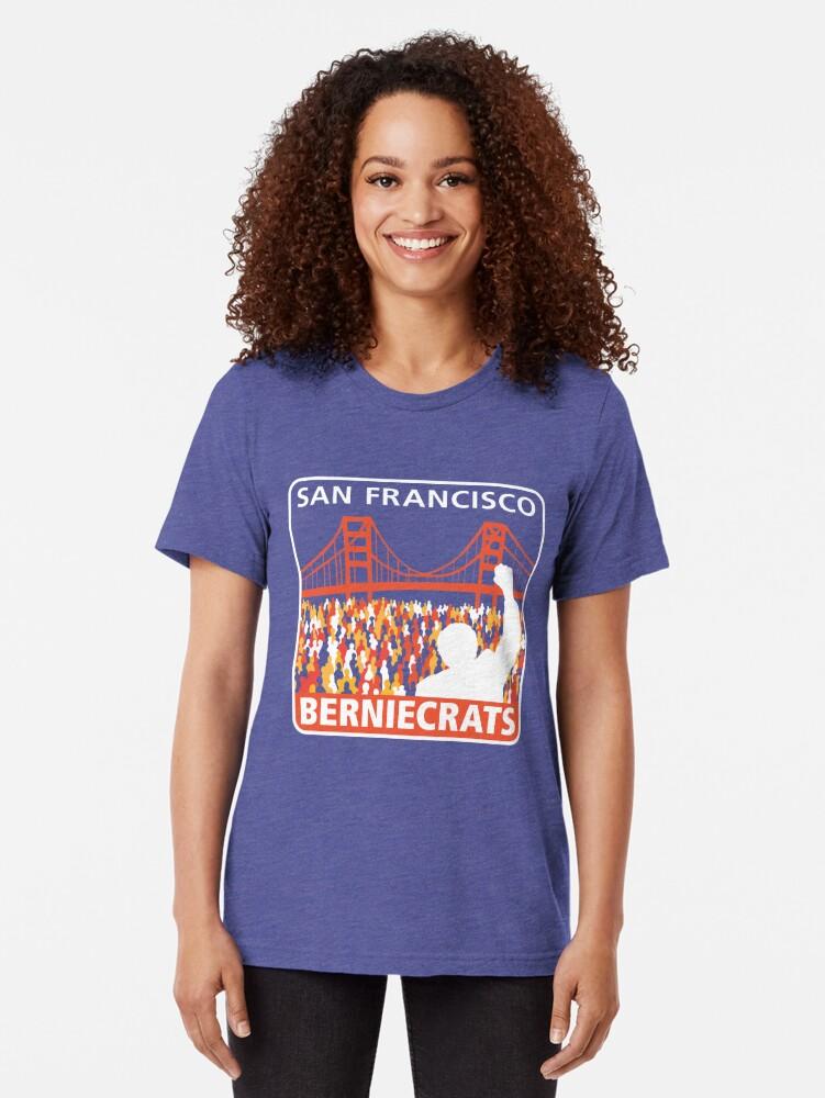 Alternate view of SF Berniecrats Tri-blend T-Shirt