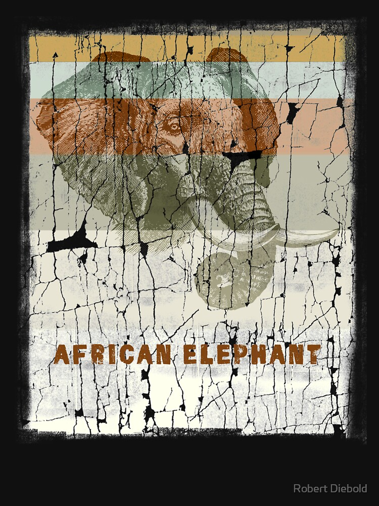 African Elephant - Protect Endangered Species by manbird