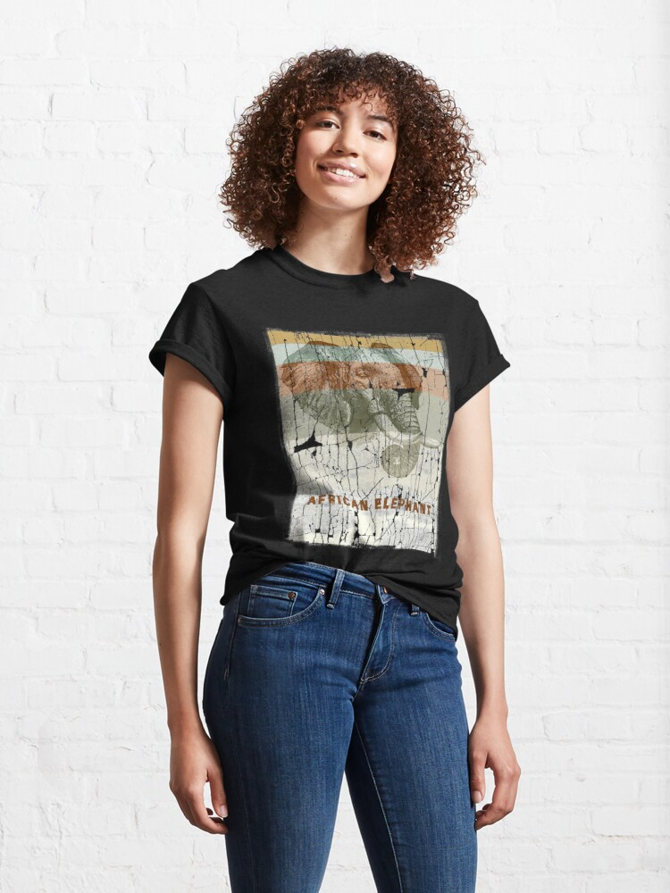 Alternate view of African Elephant - Protect Endangered Species Classic T-Shirt