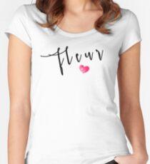 Fleur T-Shirt Women's Fitted Scoop T-Shirt