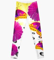 Flowers and Sunshine Butterfly Leggings
