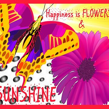 Flowers and Sunshine Butterfly by AnInspiredCuppa