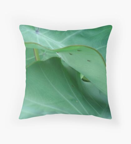 Elephant ears with ants Throw Pillow