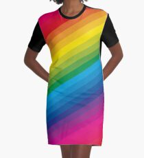 Rainbow Graphic T-Shirt Dress