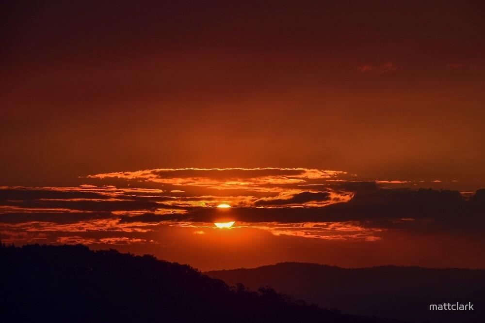 Sunset and Smoke by mattclark