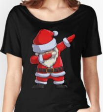 Dabbing Santa T Shirt Claus Christmas Funny Dab X-mas Gifts Kids Boys Girls Men Women Women's Relaxed Fit T-Shirt