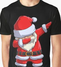 Dabbing Santa T Shirt Claus Christmas Funny Dab X-mas Gifts Kids Boys Girls Men Women Graphic T-Shirt