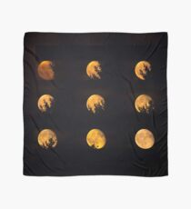 Red blood waning moon Scarf