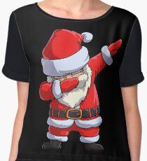 Dabbing Santa T Shirt Claus Christmas Funny Dab X-mas Gifts Kids Boys Girls Men Women Chiffon Top